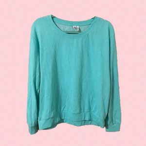 Divided Teal Sweater